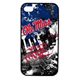 NCAA Mississippi Old Miss Rebels Paulson Designs Spirit Case for iPhone 4/4s, Black, Medium