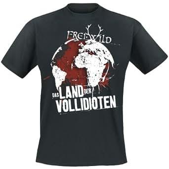 Frei.Wild - Land Der Vollidioten T-Shirt, schwarz, Grösse XXL
