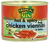 Jamaica Sun Viennas Hot and Spicy Sausages 200 g (Pack of 12)