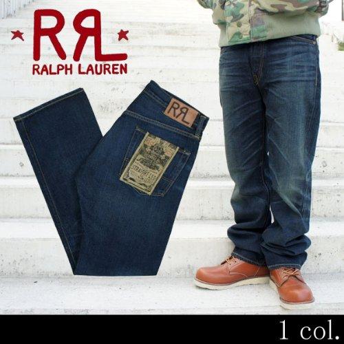 (ダブルアールエル) RRL by Ralph Lauren STRAIGHT LEG DENIM ビンテージデニムパンツ ジーンズ 32×32 INDIGO (並行輸入品)