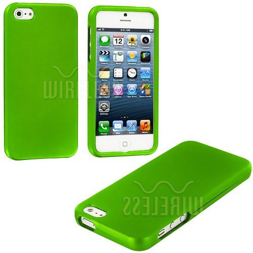 >>  myLife (TM) Lime Green Flat Series (2 Piece Snap On) Hardshell Plates Case for the iPhone 5/5S (5G) 5th Generation Touch Phone (Clip Fitted Front and Back Solid Cover Case + Rubberized Tough Armor Skin + Lifetime Warranty + Sealed Inside myLife Authorized Packaging)