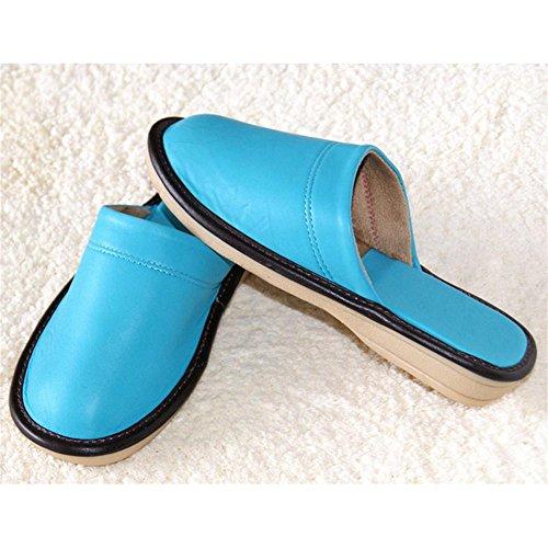 TDXIE Nuovo pattino in pantofole fatte a mano di abbigliamento di pecora casa pantofole scarpe , c , 38-39