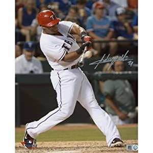 Adrian Beltre Texas Rangers Autographed 8