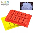 New Style Creative Building Block Soft Silicone Ice Box Ice Popsicle Mold DIY Chocolate Mould Cake (Color randomly send)