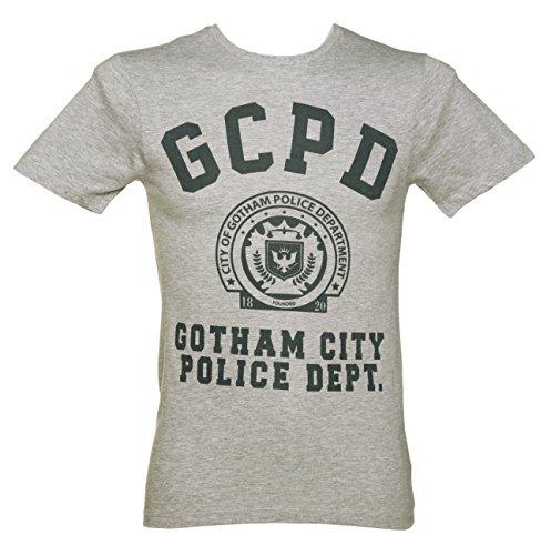 DC コミックス バットマン ゴッサム市警Tシャツ メンズ 杢グレー