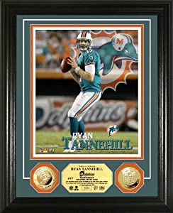 NFL Miami Dolphins Ryan Tannehill Photo Mint Gold Coin by Highland Mint