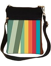 Snoogg Slant Multi Color Cross Body Tote Bag / Shoulder Sling Carry Bag