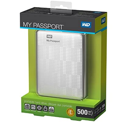 WD My Passport 500GB Portable External Hard Drive Storage USB 3.0 White (WDBKXH5000AWT-NESN)
