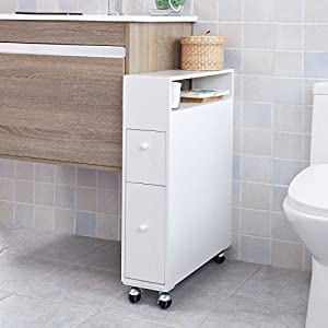 Sobuy bathroom storage cabinet with casters toilet paper - Meuble rangement papier toilette ...