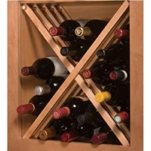 National Russian River Cabinet Mount Wine Rack For 24 Inch Cabinet