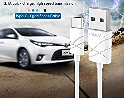 USAMS U-GEE Series 1M 2.1A Fast Charging & Data Sync Type-C Cable for USB Type-C Devices Including The New MacBook, OnePlus 2 & Other - White