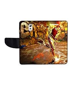 KolorEdge Printed Flip Cover For Lenovo Vibe P1M Multicolor - (1478-50KeMLogo09509LenovoP1M)