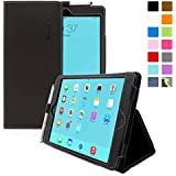Snugg Leather Case with Flip Stand, Elastic Hand Strap and Retina Display for iPad Mini 1 & Mini 2 - Black