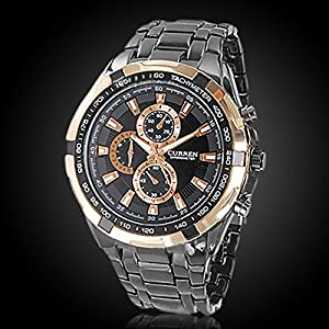 Curren Cool de moda hombres cuarzo analógico acero inoxidable Sport Watch reloj deportivo chicos reloj de pulsera reloj por Curren