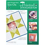 Dritz Printed Treasures 5-Pack Sew-on Ink Jet Fabric Sheets, White