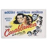 Casablanca & Humphrey Bogart, Ingrid Bergman, Paul Henreid, Vintage Metal Door SIGN OR Wall Plaque