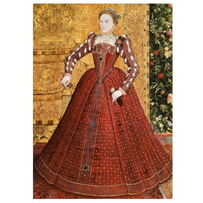 Elizabeth I - Treasures of the Royal Courts Exhibition Postcard