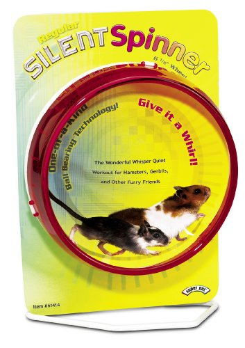 Super Pet Hamster Silent Spinner 6-1/2-Inch Regular Exercise Wheel, Colors Vary