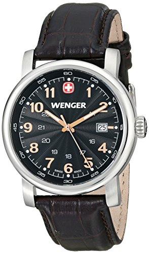 Wenger-Mens-1041104-Analog-Display-Swiss-Quartz-Black-Watch