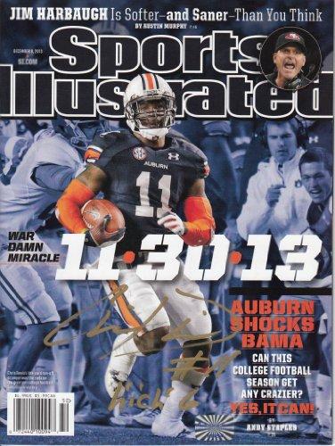 Chris Davis Autographed Sports Illustrated - 2013 Iron Bowl - Auburn Tigers front-599015