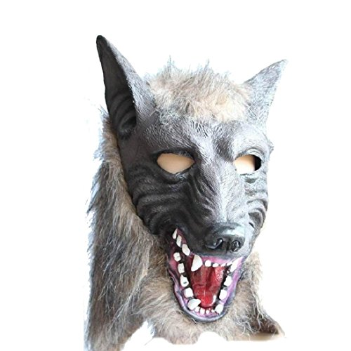 AutumnFall® Wolf Mask Latex Animal Prop For Halloween