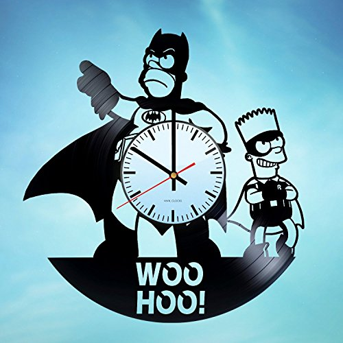 The Simpsons Batman Handmade Vinyl Record Wall Clock Unique Home decor Art design