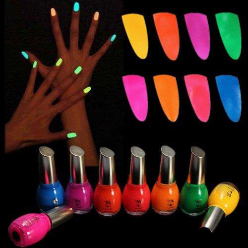 Noctilucent Fluorescent Nail Polish Lacquer Neon Glow In Dark (Neon Nail Polish Glow In The Dark compare prices)