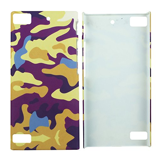 Heartly Army Style Retro Color Armor Hybrid Hard Bumper Back Case Cover For BlackBerry Z3 - Yellow Field