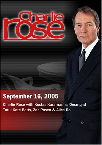 Charlie Rose with Kostas Karamanlis; Desmond Tutu; Kate Betts, Zac Posen & Alice Roi (September 16, 2005)