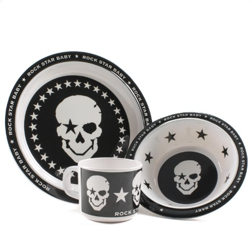 Rock Star Baby Black Skull Dinnerware Baby 3