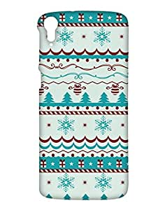 Aztaq Back Cover for HTC Desire 828 (Multi-coloured)