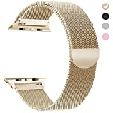 yamen Compatible for Apple Watch Band 38mm 40mm Women Milanese Loop for iwatch Band Series 2 3 4 Gold (Color: 38mm 40mm gold, Tamaño: 38 mm/40mm)