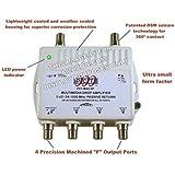 4 Port Cable TV/HDTV/Digital Amplifier Internet Modem Signal Booster Internet AMP
