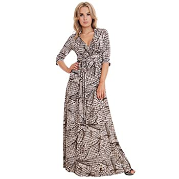 WINTER SALE! Elegant Ladies Maxi Party Dress Vintage Style Wrap Design