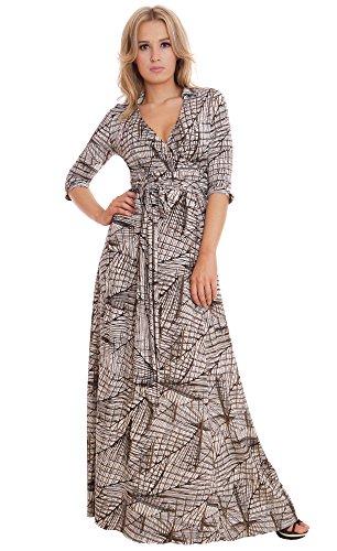 WINTER SALE! Elegant Ladies Maxi Party Dress Vintage Style Wrap Design 0