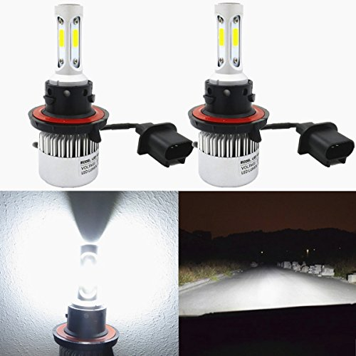 Alla Lighting 8000lm Xtremely Super Bright 6000K Xenon White High Power Mini H13 9008 LED Headlight Bulbs Conversion Kits Lamps Replacement (2014 Ram Headlight Bulb compare prices)