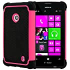 CellJoy® Triple Defender Layered Armor Back Cover Case for Nokia Lumia 521 (At&t / Metro / T-Mobile / Cricket) ***WILL NOT FIT LUMIA 520*** [CellJoy Retail Packaging] (Pink / Black)
