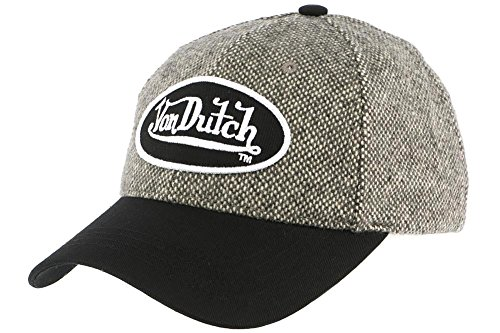 von-dutch-cuffia-baseball-wilson-tweed-marrone-von-dutch-uomo-donna-marrone-taglia-unica