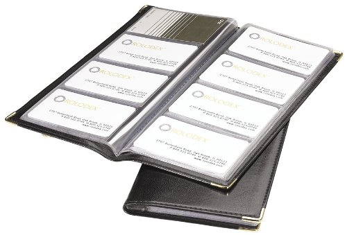 Rolodex Business Card Book 96Card Black and Gold 67473 Amazon