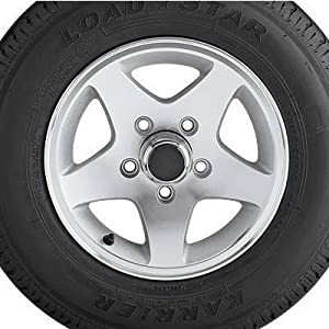 Aluminum Star Mag Trailer Tires and Assembly - 15in. Bias Ply, Model# DM205D5... by Northern Tool and Equipment