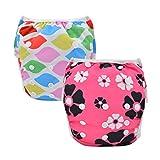 Alvababy paquete de pañales reutilizables y impermeables para natación, 2pcs en un paquete SW-YA70104-ES