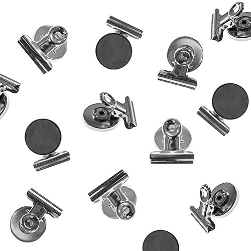 Heavy Duty Mini Silver Refrigerator Magnet Hook Clips for Photo Displays, Hanging Home Decoration, Arts & Crafts, Office Organizing (8 Pack) by Super Z Outlet (Magnetic Refrigerator Magnets compare prices)