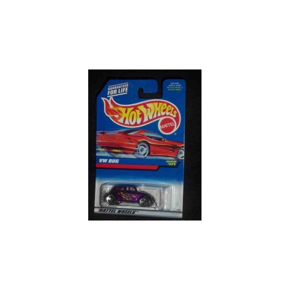 VW Bug Dark Purple 3 spoke Wheels Red Card Collectible Collector Car
