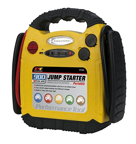 Performance Tool W1665 900 Amp Jump Starter, Inflator and Portable Power Unit (Peak Performance Jump Starter compare prices)