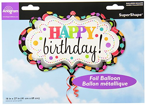 Anagram International 2447201 Happy Birthday Marquee Shop Balloon Pack, 27""
