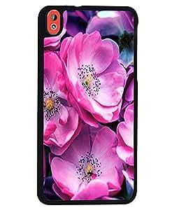 Printvisa 2D Printed Flower Designer back case cover for HTC Desire 816G - D4499