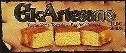 El Artesano Toasted Egg Yolk Turron (Yema Tostada) 7oz (200 G)