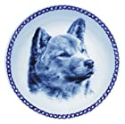 Shiba Inu Lekven Design Dog Plate 19.5 cm /7.61 inches Made in Denmark NEW with certificate of origin PLATE #7576