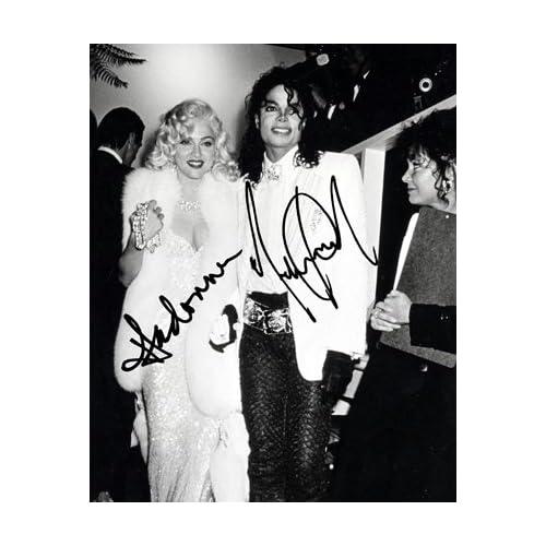 Amazon.com : Michael Jackson & Madonna Autograph Signed