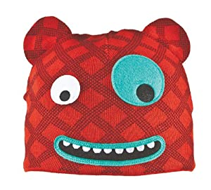 Bula Kid's Monster Beanie,Red,One Size